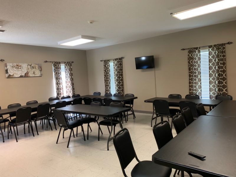 Activity/Bingo room at Senior Center